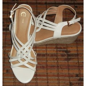 Cato Shoes - Braided jute rope wedge sandals EUC Cato 10M
